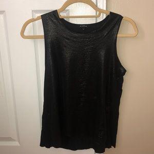 black snake skin leather tank top